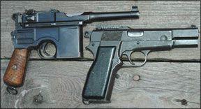 broomhandle hi power pistols
