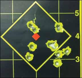 shot pattern of Adcor Elite rifle