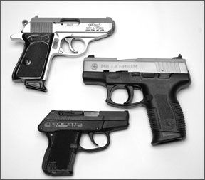 small-caliber pistols