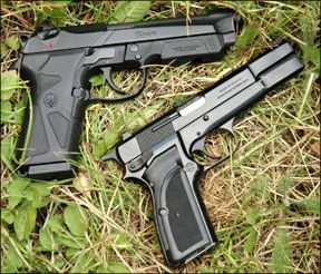 Beretta 90-Two and Browning Hi-Power