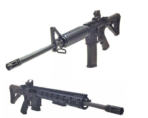 lightweight AR rifles