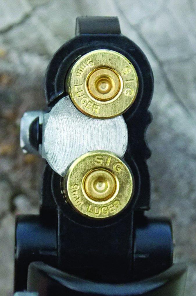 standard-pressure 9mm loads in Cobra Derringer