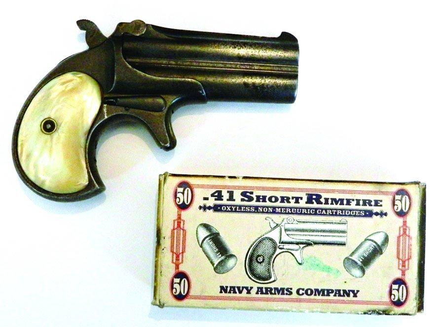 41-caliber Remington Derringer with ammo