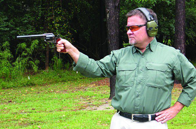 original Bisley revolver stance