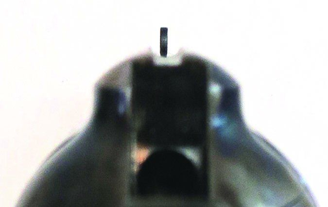 Ruger Bisley shooter's view