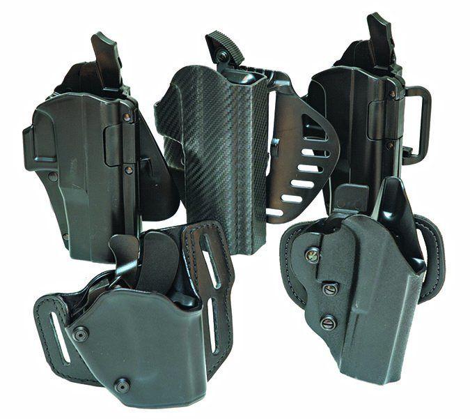 High-retention firearm holsters