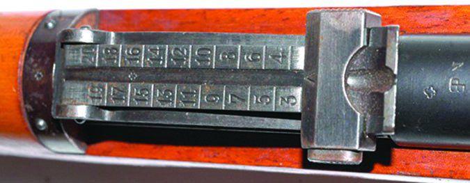Schmidt-Rubin Model 1911 rear sight