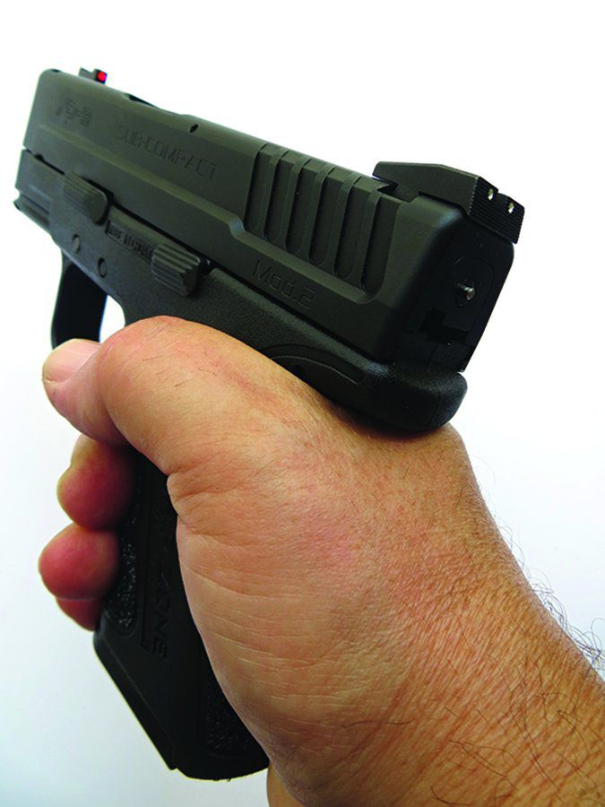 Springfield Armory 9mm XD grip safety