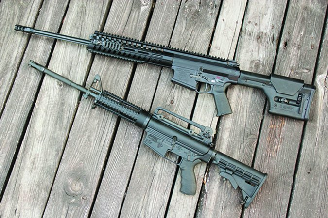 DPMS and POF 308 semi-automatic rifles