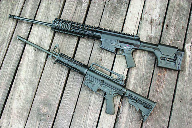 DPMS and POF 308 semi-automatic rifles