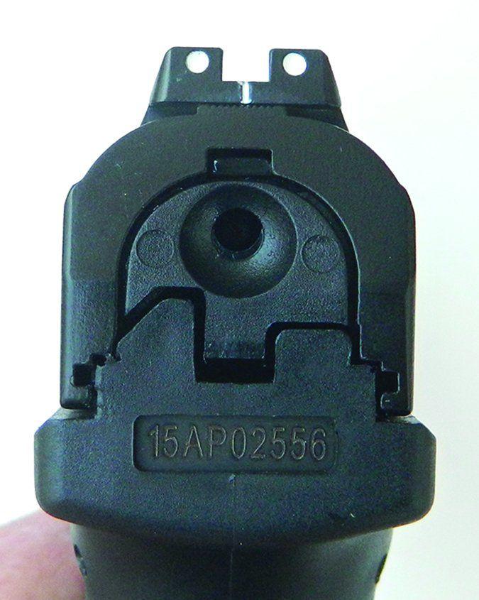 handgun rear sight
