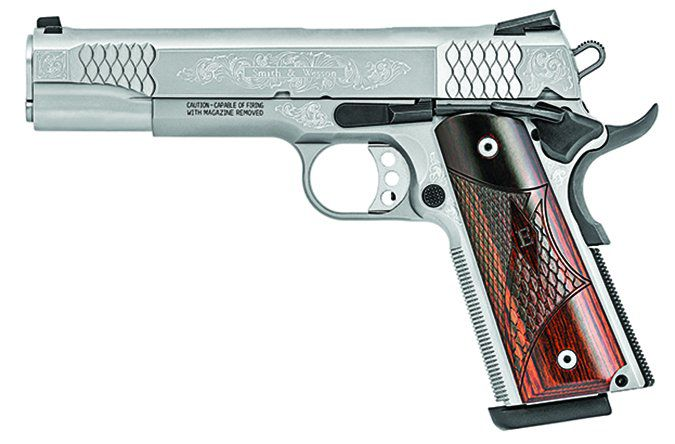 Smith & Wesson SW1911 45 ACP Machine Engraved
