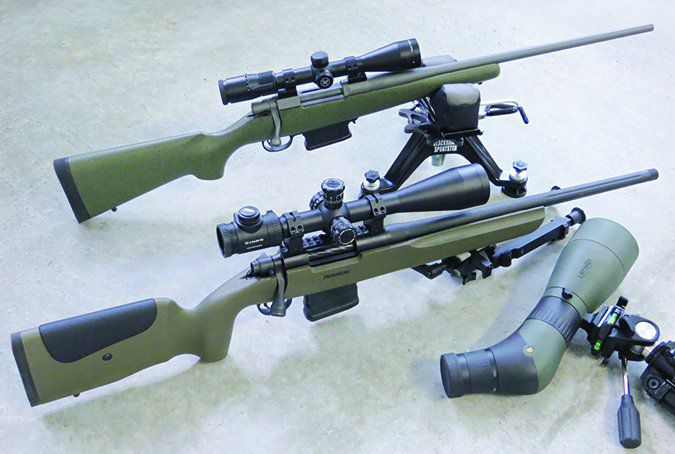 Howa and Mossberg hunting rifles