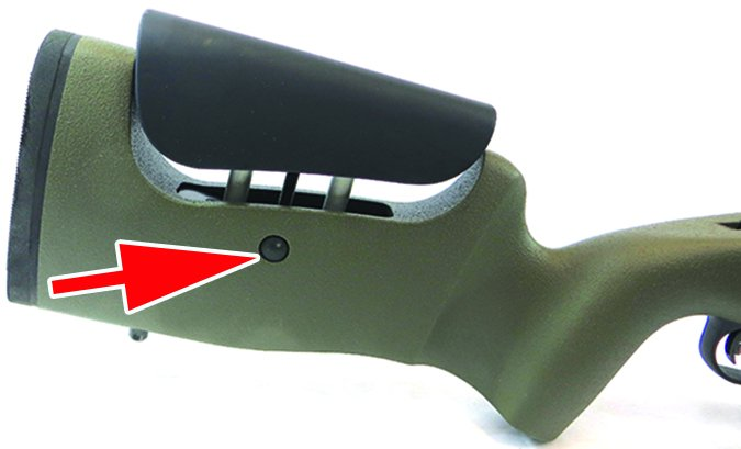 Mossberg MVP rifle cheek adjustable