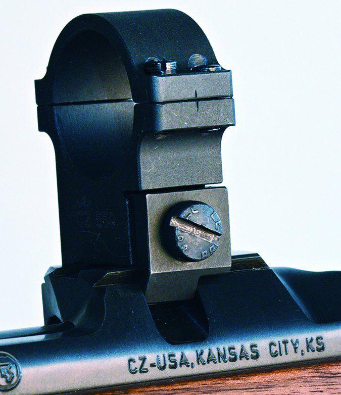 CZ USA 557 Sporter Short Action No. 04806 243 Winchester rings