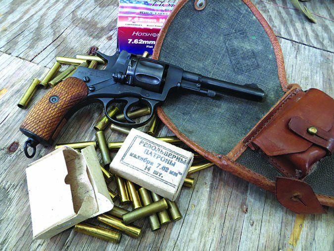 Nagant M1895 with surplus 7.62x38mm and HotShot 7.62x38mm