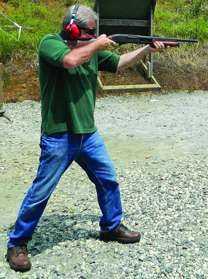 remington 870 shotgun in action