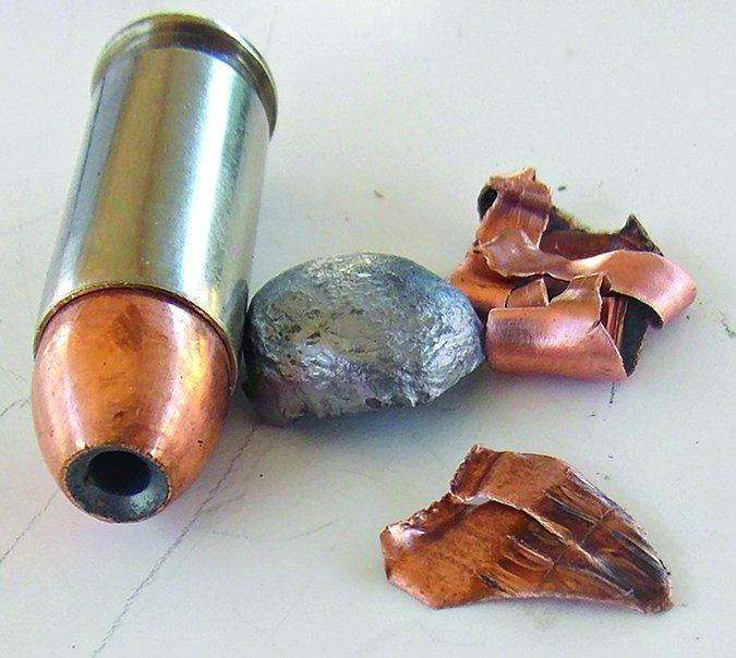DoubleTap 115-grain JHP fragments