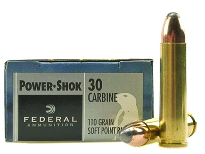 Federal Power-Shok 30 Carbine 110-grain Soft-Point Round Noses