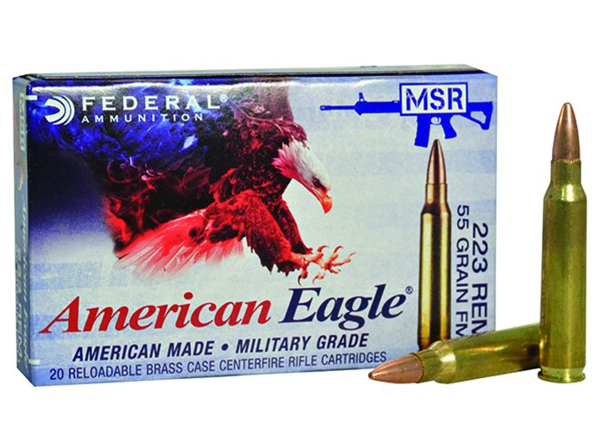 Federal American Eagle 223 Rem. 55-grain FMJs