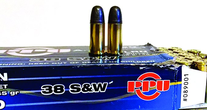 PPU 38 Smith & Wesson bullets