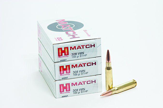 Hornady Match 308 Winchester 168-grain Boattail Hollowpoint