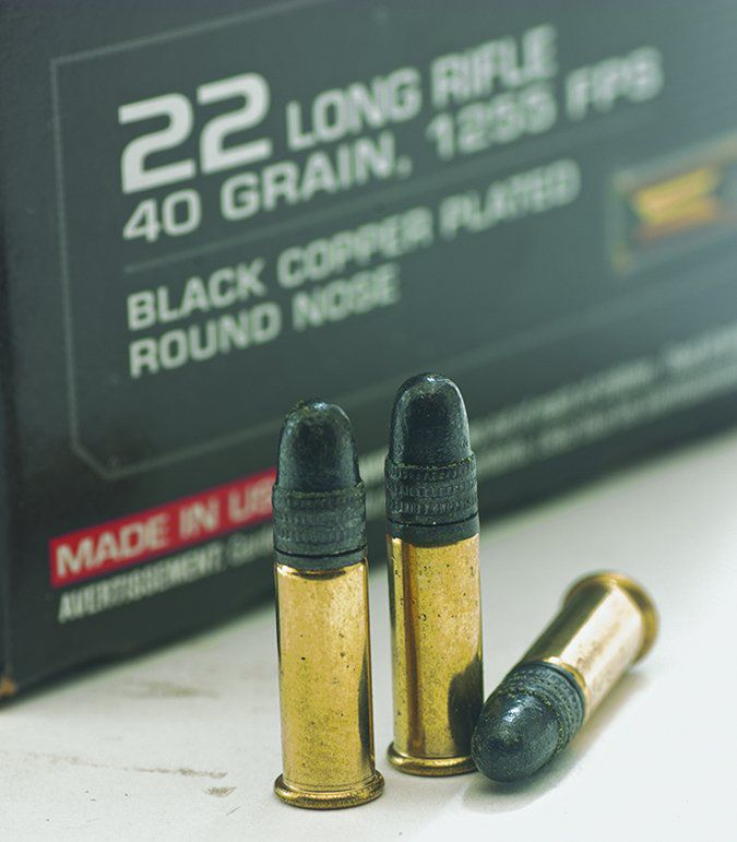 Winchester M-22 40-grain Black Copper-Plated Lead Roundnoses