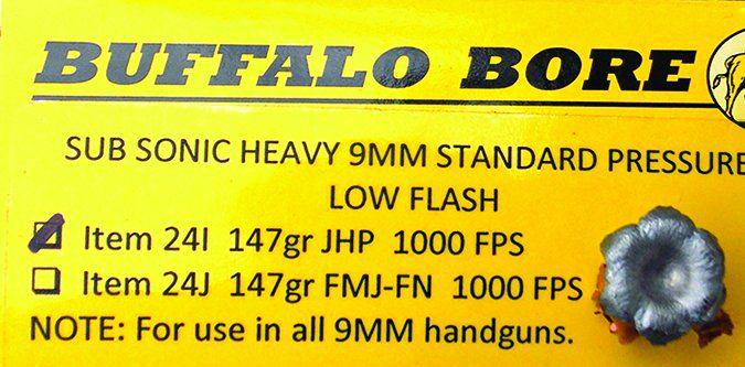 Buffalo Bore Standard Pressure 147-grain JHP 24I