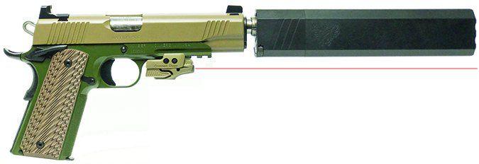 Kimber America 1911 Warrior SOC 3000253 TFS with Crimson Trace Rail Master Laser Sight 45 ACP