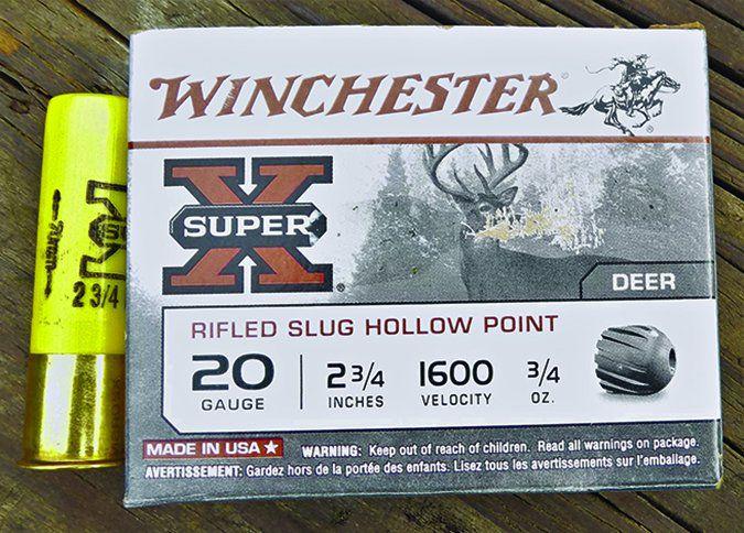 winchester 20-gauge 3/4 ounce slug