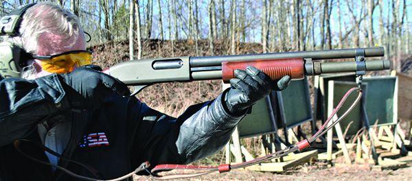 Remington 870 17 R shooting